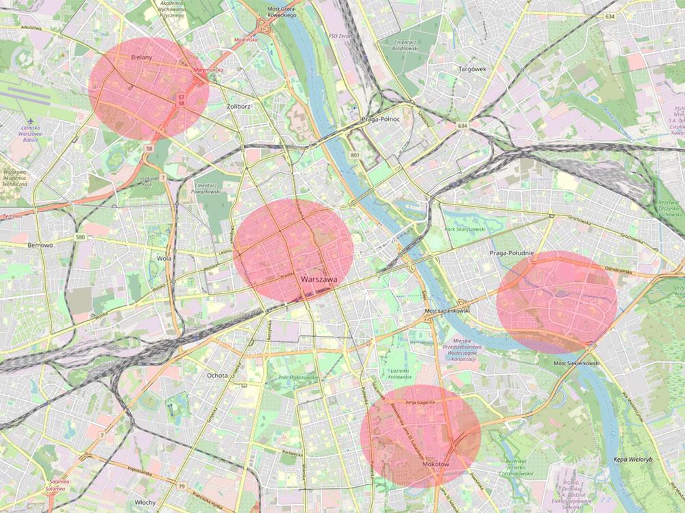 Budowa mapa wybór lokalizacji gabinetu