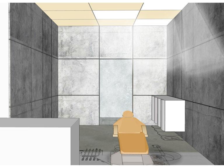 Projekt gabinetu stomatologicznego w centrum handlowym