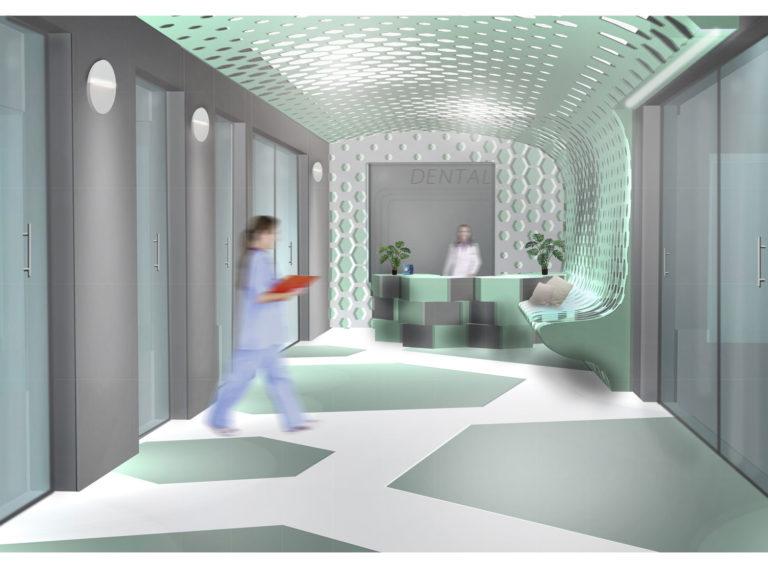 Projekt gabinetu ortodontycznego z salą szkoleniową – Sękocin